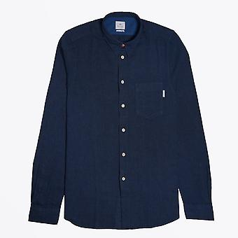 PS Paul Smith  - Fine Houndstooth Check Shirt - Blue