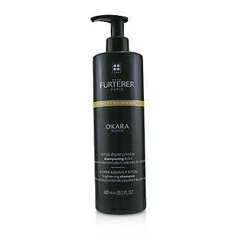 Okara blond blonde radiance ritual brightening shampoo natural, highlighted or colored blonde hair (salon product) 240277 600ml/20.2oz