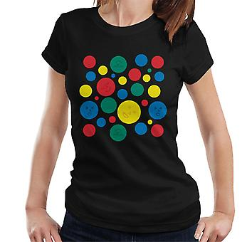 Twister Mat Circles And Faces Women's T-Shirt