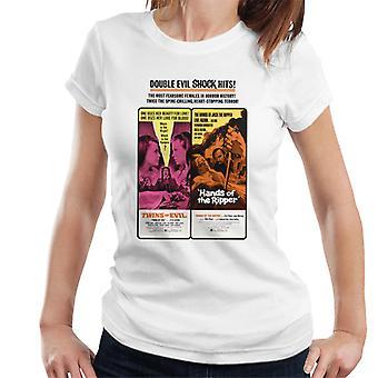 Hammer Horror Filme Zwillinge Ripper Doppel böse Schock Hits Frauen's T-Shirt