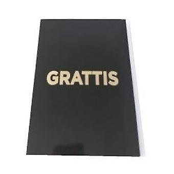 Grattiskort med konvolutter svart med gull tekst 13x19 cm