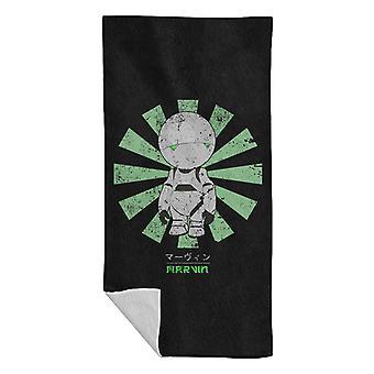 Marvin Paranoid Android Retro Japanese Beach Towel