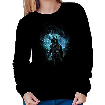 Lord Of The Rings Gandalf Silhouette Women's Sweatshirt