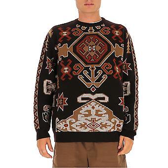 Etro 1n32197430100 Men's Suéter de Lã Marrom