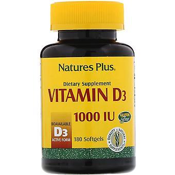 Natur's Plus, Vitamin D3, 1000 IE, 180 Softgels
