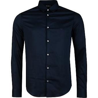 Armani Long Sleeved Slim Fit Logo Shirt