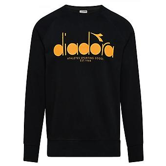 Diadora schwarz Logo Offside Sweatshirt