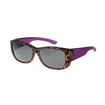 Sunglasses Women's Brown / Purple with Green Lens Vz0035lu
