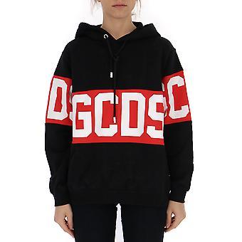 Gcds Cc94w02100202 Women's Black Cotton Sweatshirt