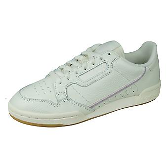 adidas Originals Continental 80 Womens Leather Trainers - Off White