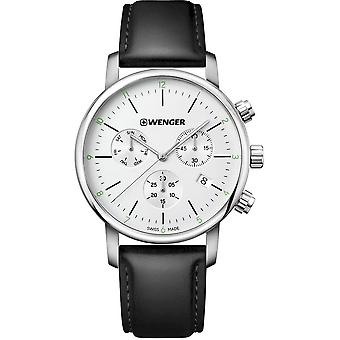 Wenger - Wristwatch - Men - Urban Classic - 01.1743.118 - silver white, 44 mm