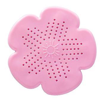 花硅胶水槽过滤器淋浴排水头发捕手浴缸 - 保护器