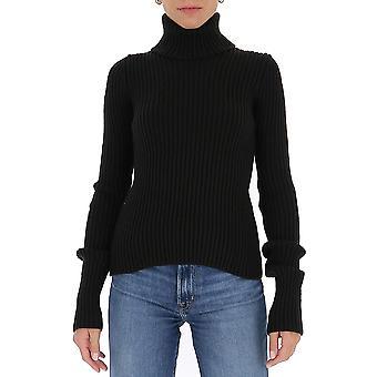 Bottega Veneta 641065v08g02113 Kvinder's Sort Uld Sweater