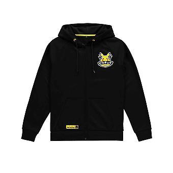 Pokemon Huppari Olympialaiset Pikachu Hero Logo uusi Virallinen Miesten Musta Zipped