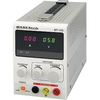 Basetech BT-153 Bench PSU Single Output 0-15VDC 0-3A 45W