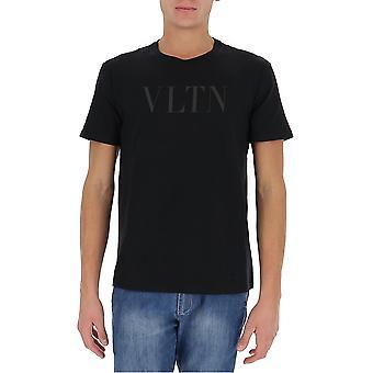 Valentino Uv0mg10v6yhlt7 Männer's schwarze Baumwolle T-shirt