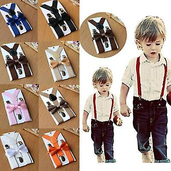 Adjustable Suspender And Bow Tie For Baby Boy, Girls