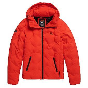 Superdry New Echo Quilt Puffer Jacket - Volcanic Lava Orange
