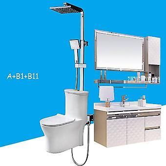 One Piece Toilet Set Sanitary Ware, Modern Simple Whole Bathroom Cabinet