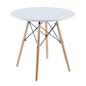 Runder Tisch Matera weiß 80x80 cm Saska Garden