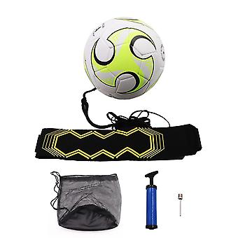 Soccer Training Kick Back Ball With Belt Rope, Beginner Football Trainer Close