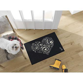 wash+dry designer matto rakkaus on kaikki 50 x 75 cm pestävä ovimatto