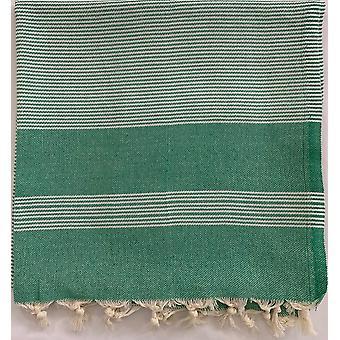 Aqua Perla Marmaris Serviette turque Vert Peshtemal Cotton