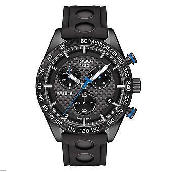 Tissot T100.417.37.201.00 PRS 516 Chronograph Black Carbon Dial Damenuhr