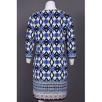 Neckline Printed Jersey Dress