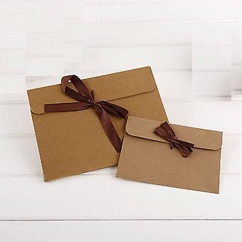 100kpl Kraft Paperi tasku laukku, Kortti kirjekuori nauha laatikko