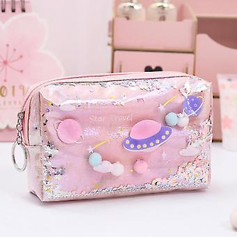 Star Pencil Case, Glitter Large Capacity, Pen Makeup Case, Pencil Bag, School