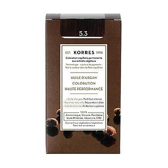 Permanent color argan oil, golden chestnut 5.3 1 unit