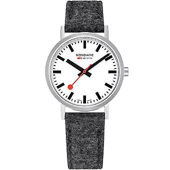 Mondaine Classic Quartz White Dial Black Synthetic Strap Watch A660.30314.16SBH