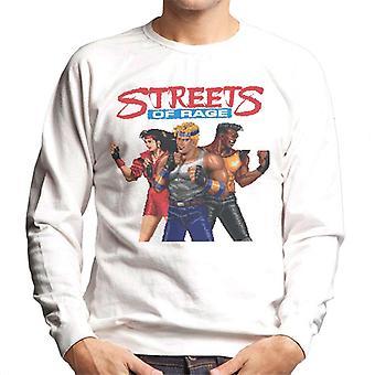 Sega Streets Of Rage Pixelated Tegn Menn's Sweatshirt