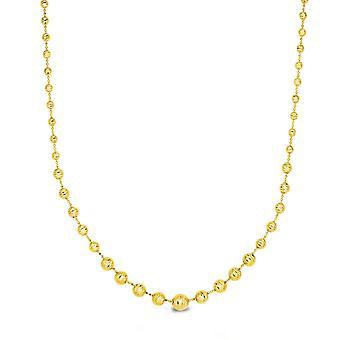 "14 k gult guld graderad Bead Womens halsband, 17 """