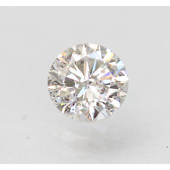 Sertifioitu 0,51 karat E VS2 pyöreä brilliant parannettu luonnollinen löysä timantti 5,09mm