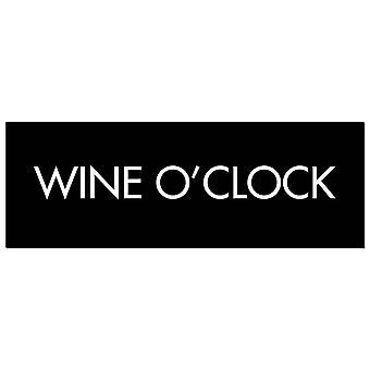 Hill Interiors Wine O Clock Foil Plaque