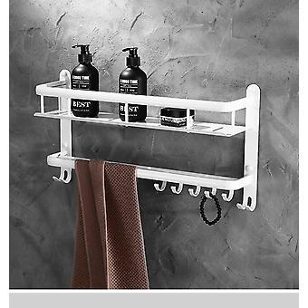 Weiße Badezimmer Regale, Wand behangen Set - Ecke Regal Duschträger