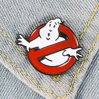 White Ghost Badge Brooch Sac Vêtements Lapel Pin