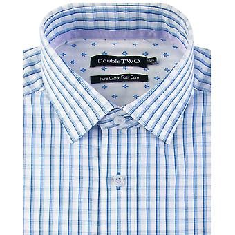 Double TWO Shadow Check Short Sleeve Shirt