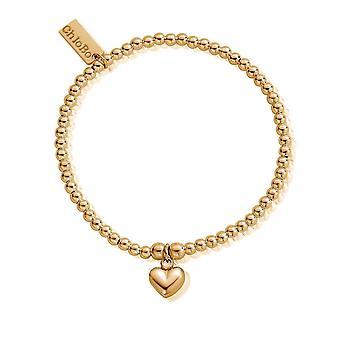 ChloBo Cute Charm puffed hjerte armbånd GBCC067