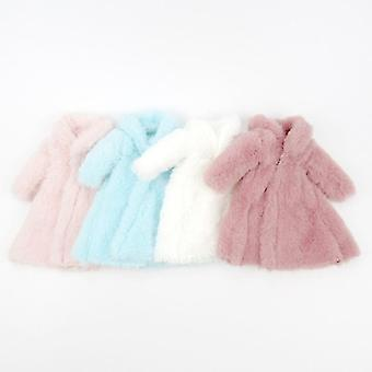 Long Sleeve Soft Fur Coat Tops Dress, Winter Warm Casual Wear Accessories