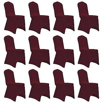 vidaXL Stretch chair hussen 12 pcs. Burgundy red