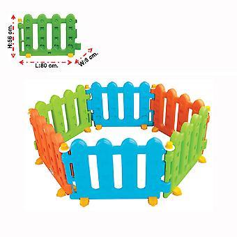 Pilsan clôture de jeu, clôture en plastique, en cours d'exécution stable 06145, 6 Elmente x 80 x 56 x 8 cm