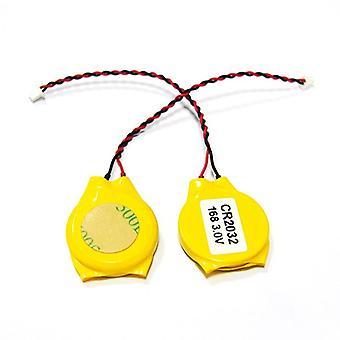 2pcs Cr2032 2032 batteri wire 2pin laptop hovedkort
