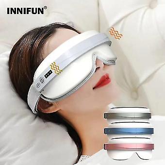 Electric eye massager musique chaude compresser massage masque de sommeil airbag vibrant instrument de soins oculaires massages lunettes