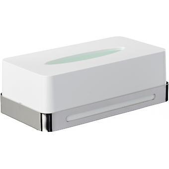 tissue-Box Premium Plus stainless steel/ABS white/silver