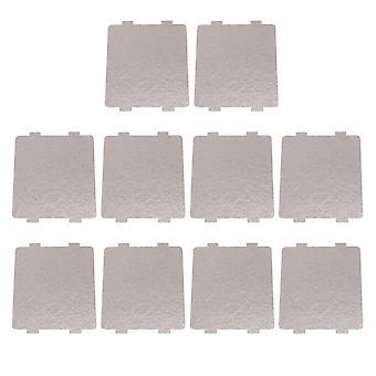 10 x aislamiento de horno microondas de tipo general Mica Slice 10.8x9.9cm gris