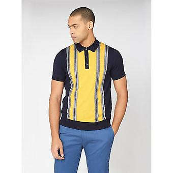 Ben Sherman Mod Stripe Polo Shirt - Dark Navy