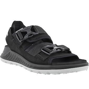 ECCO Mens Exowrap Adjustable Summer Outdoor Walking Sandals - Black